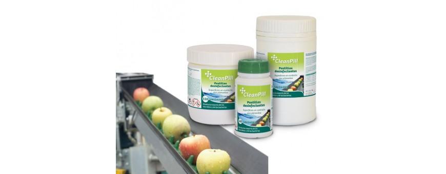Pastillas desinfectantes para la industria alimentaria